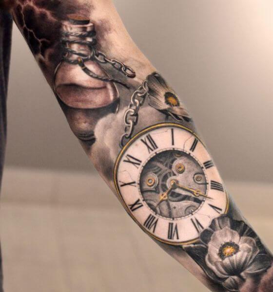 Timeless Clock Tattoo Ideas