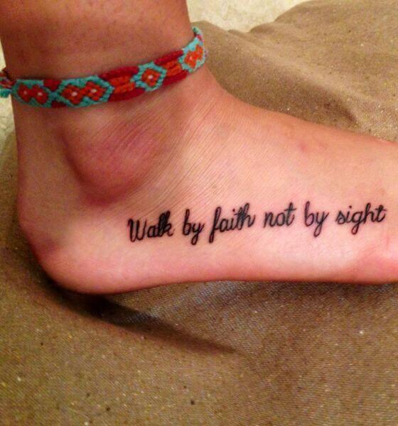 Quote Faith Tattoo Ideas
