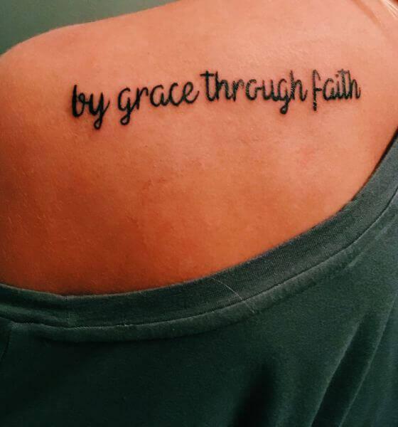 Faith Quote Tattoo