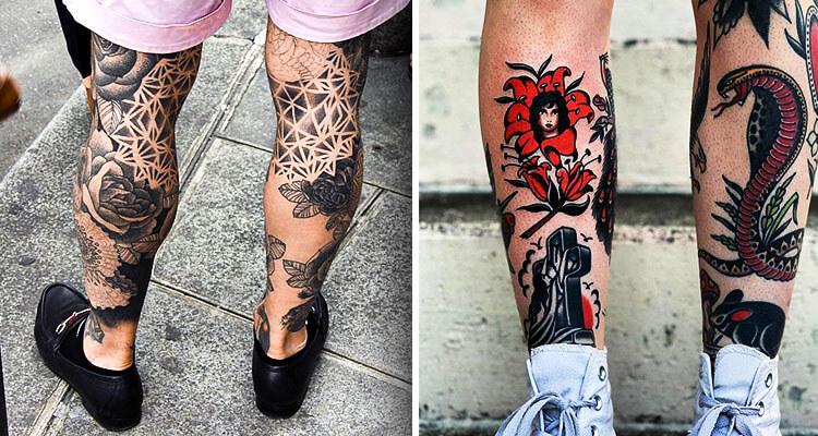 Amazing Leg Tattoo Designs for Men