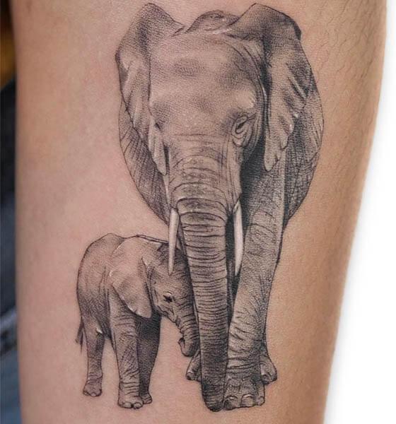 Asian Elephant Tattoo Designs