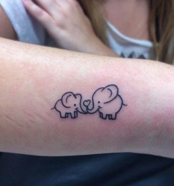 Baby Elephant Tattoo on Arm