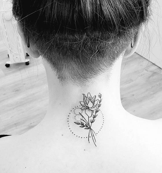 Back of the Neck Tattoo Idea