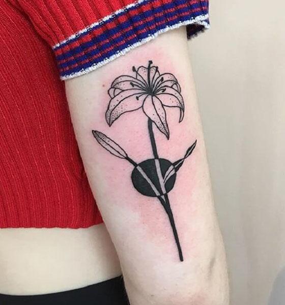 Beautiful Lily Flower Tattoo Design