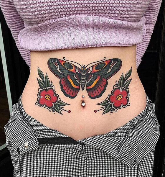 Dramatic Colored Tattoo Ideas for Females