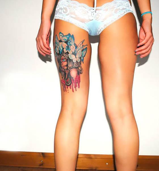 Hamstrings Tattoo Ideas for Women