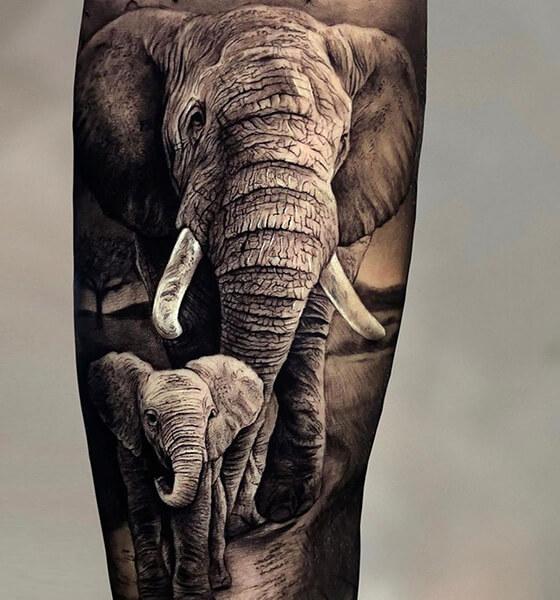 Realistic Elephant Tattoo Ideas
