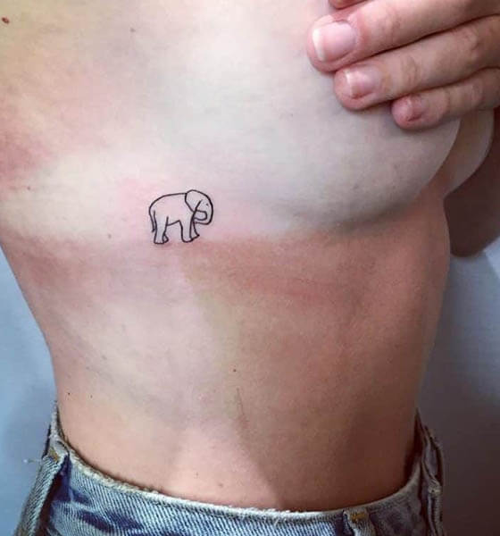 Small Elephant Tattoo Ideas for Women