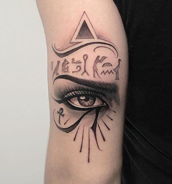 Amazing Eye of Horus Tattoo