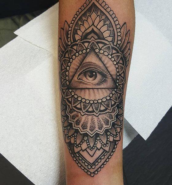 Beautiful Mandala Eye Tattoo