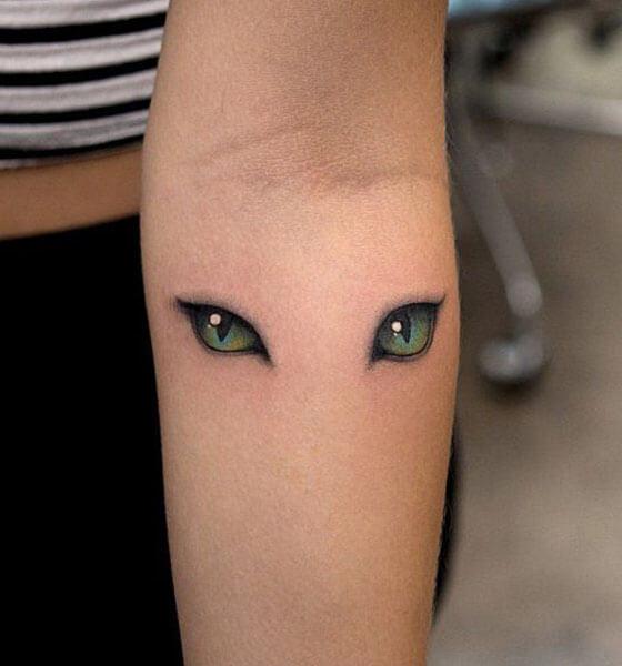Cat Eye Tattoo on Arm