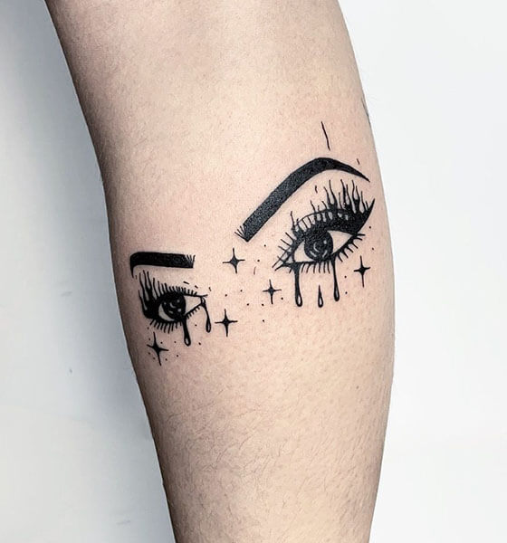 Eye Tattoo on Hand