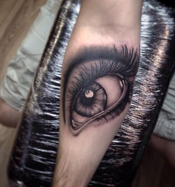 Eye Tattoo on Sleeve