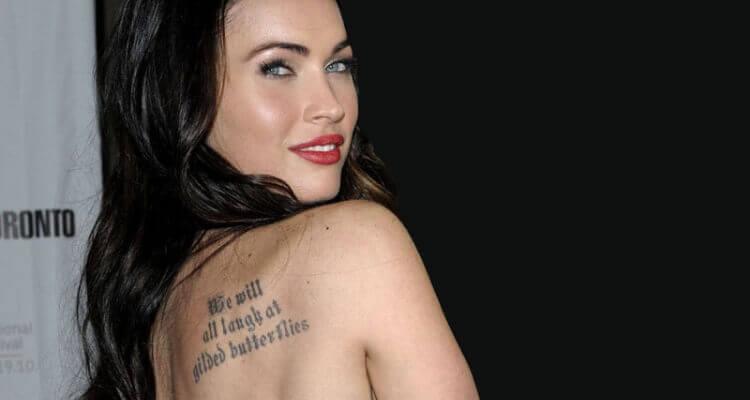 Megan fox's Tattoo Back Tattoo
