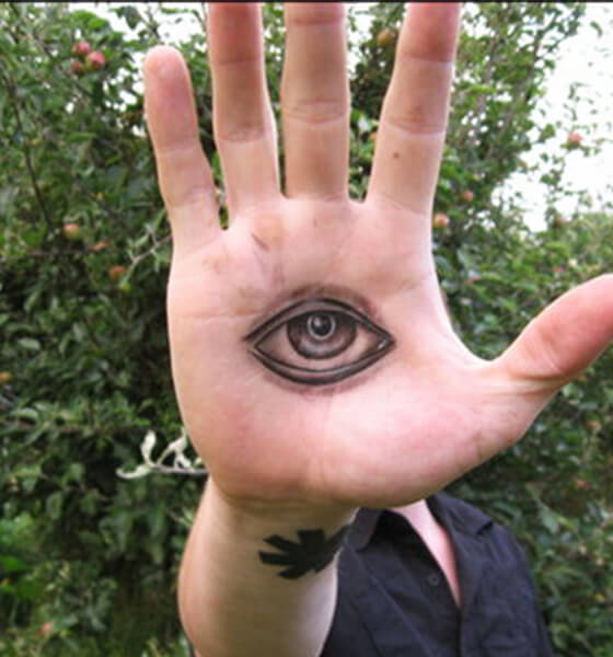 Small Eye Tattoo on Hand