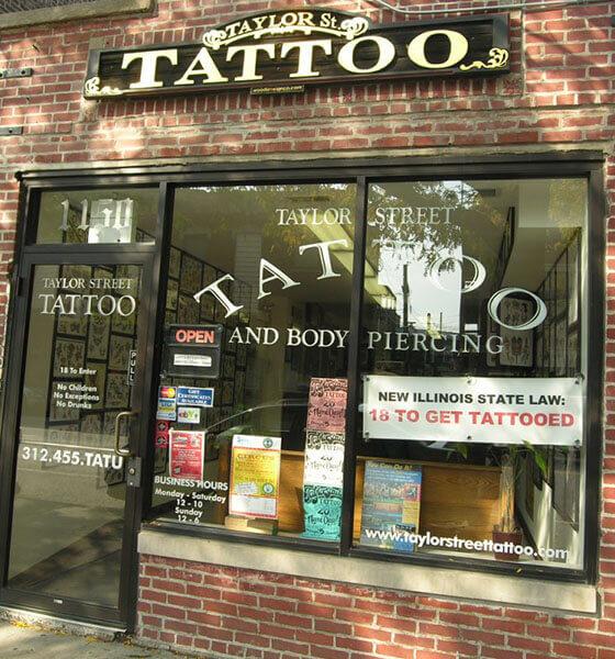 Taylor St. tattoo shop