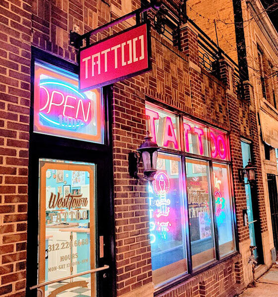 West Town Tattoo Shop in Chicago