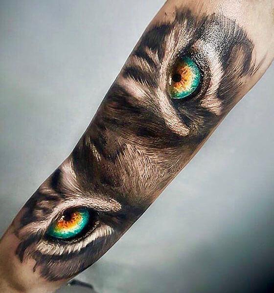 Wolf Eye Tattoo Design